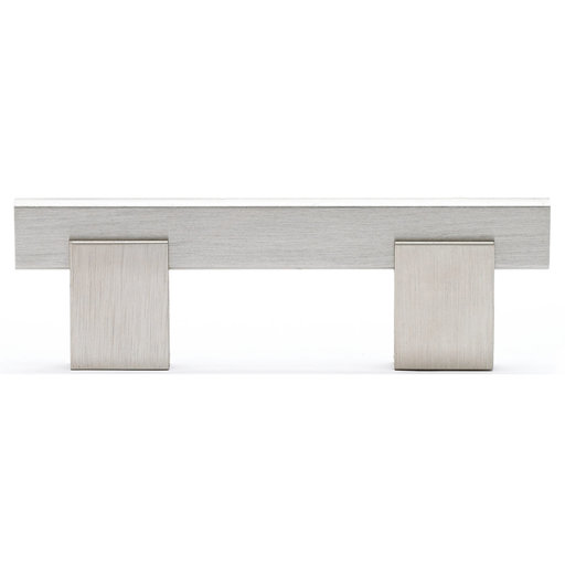 """View a Larger Image of Contemporary Pull, 3"""" Center-to-Center, Brushed Nickel"""