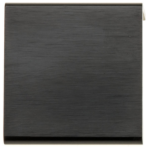 """View a Larger Image of Contemporary Pull, 31/32"""" Center-to-Center, Brushed Black"""