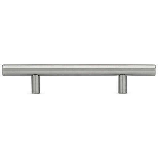 """View a Larger Image of Contemporary Pull, 4-1/8"""" Center-to-Center, Stainless Steel, Antibacterial"""