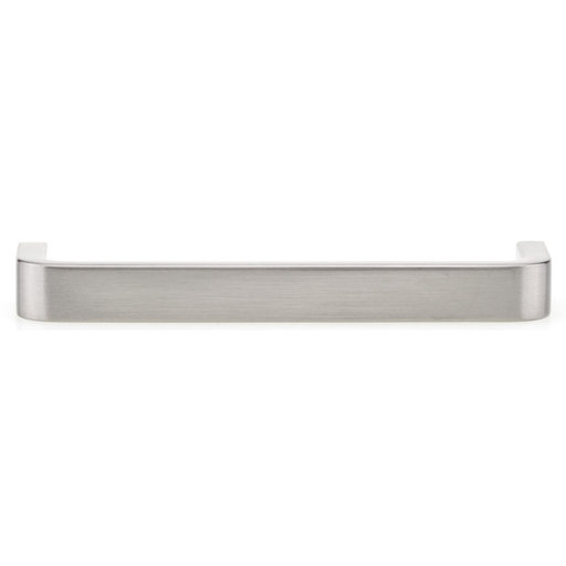 """View a Larger Image of Contemporary Pull, 4"""" Center-to-Center, Brushed Nickel"""