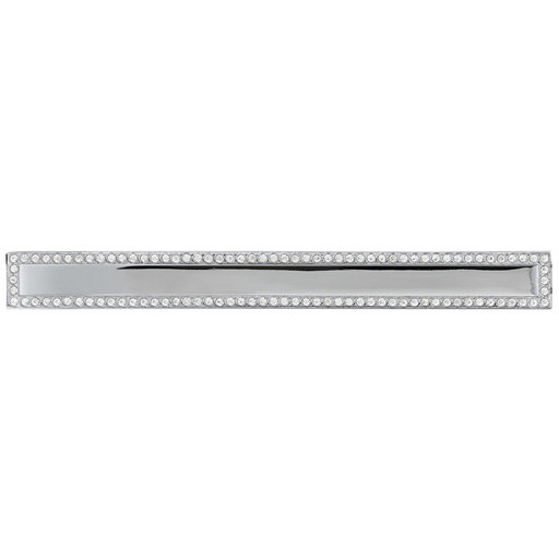 """View a Larger Image of Contemporary Pull, 5-1/16"""" Center-to-Center, Chrome, Crystal"""