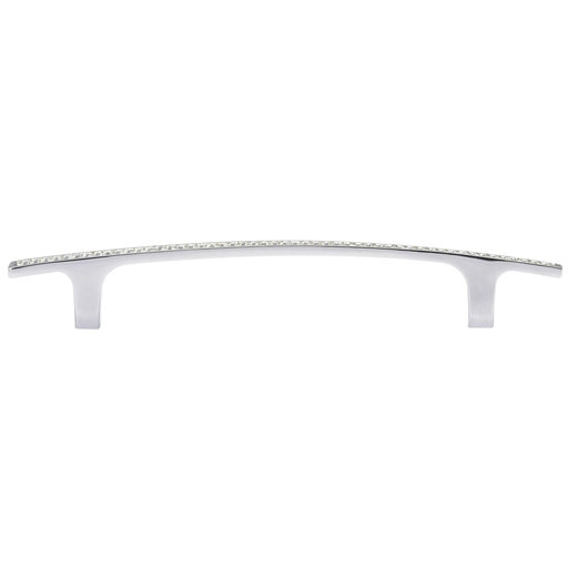 """View a Larger Image of Contemporary Pull, 5-1/16"""" Center-to-Center, Crystal, Chrome"""