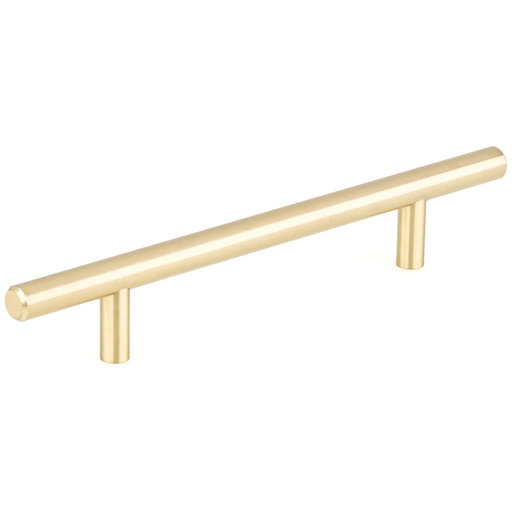"""View a Larger Image of Contemporary Pull, 5-1/16"""" Center-to-Center, Satin Brass"""