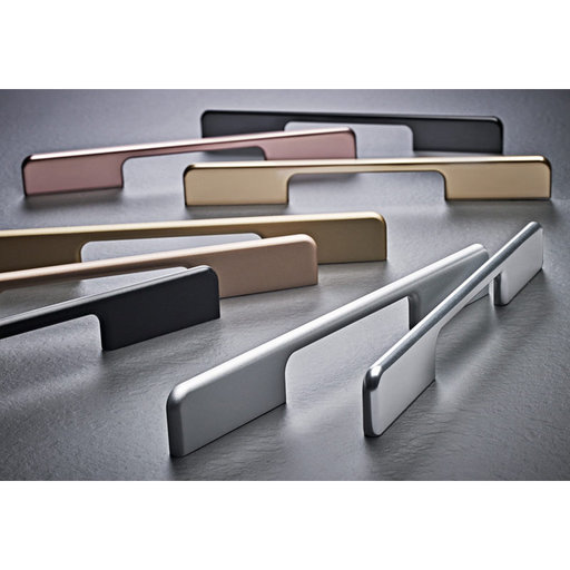 """View a Larger Image of Contemporary Pull, 5-1/16"""" to 7-9/16"""" Center-to-Center, Matte Black"""