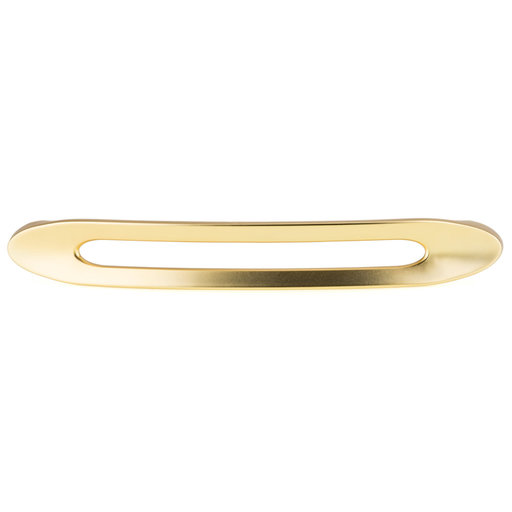 """View a Larger Image of Contemporary Pull, 6-5/16"""" Center-to-Center, Brushed Gold"""