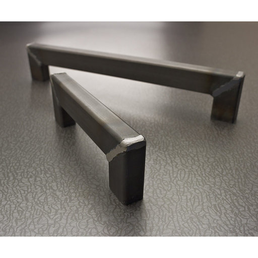 """View a Larger Image of Contemporary Pull, 6-5/16"""" Center-to-Center, Matte Black Iron"""