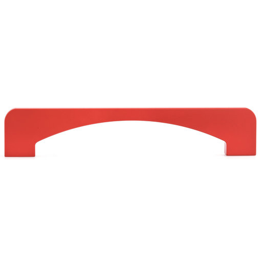 """View a Larger Image of Contemporary Pull, 6-5/16"""" Center-to-Center, Red"""