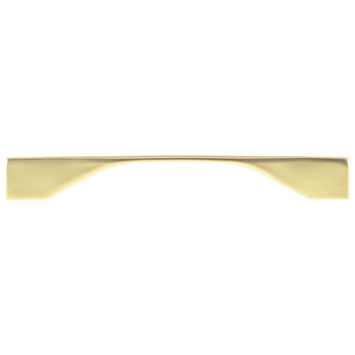 """View a Larger Image of Contemporary Pull, 6-5/16"""" to 7-9/16"""" Center-to-Center, Brushed Gold"""