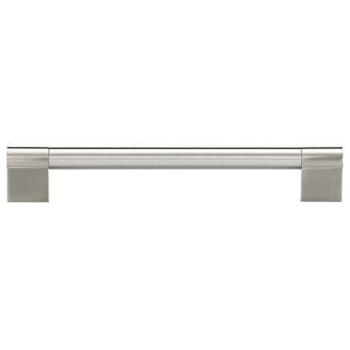 """View a Larger Image of Contemporary Pull, 7-1/16"""" Center-to-Center, Brushed Nickel"""