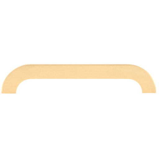 """View a Larger Image of Contemporary Pull, 7-9/16"""" Center-to-Center, Brushed Gold"""
