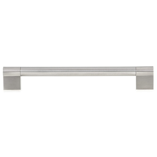 """View a Larger Image of Contemporary Pull, 7-9/16"""" Center-to-Center, Brushed Nickel"""