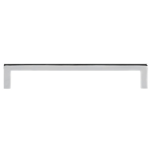 """View a Larger Image of Contemporary Pull, 7-9/16"""" Center-to-Center, Polished Nickel"""