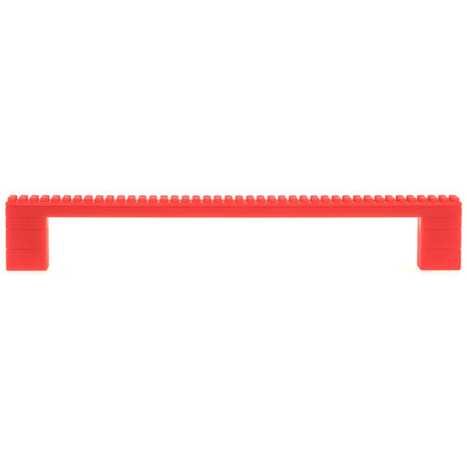 """View a Larger Image of Contemporary Pull, 7-9/16"""" Center-to-Center, Red"""