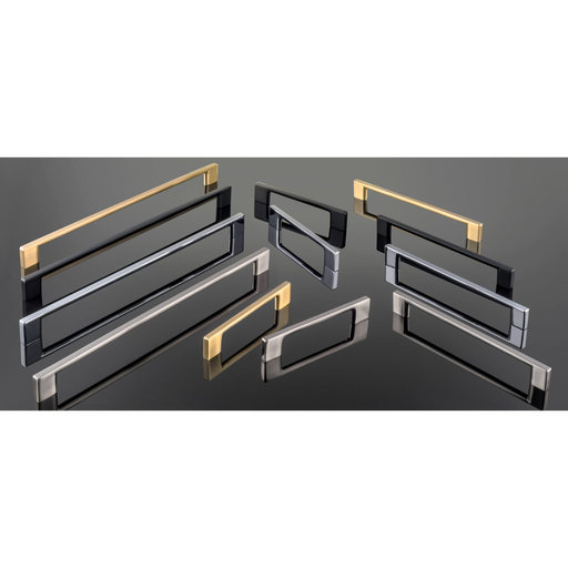 """View a Larger Image of Contemporary Pull, 7-9/16"""" Center-to-Center, Satin Brass"""