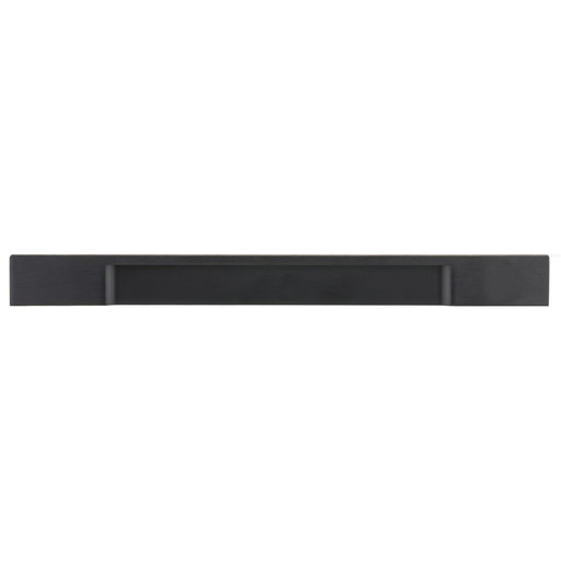 """View a Larger Image of Contemporary Pull, 8-13/16"""" Center-to-Center, Brushed Black"""