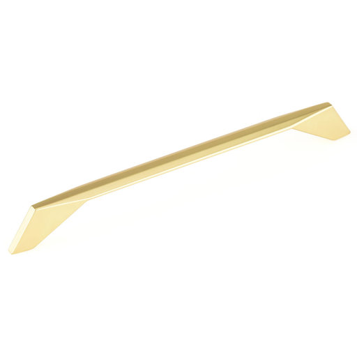 """View a Larger Image of Contemporary Pull, 8-13/16"""" Center-to-Center, Brushed Gold"""