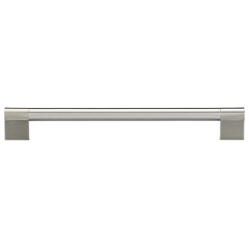 """View a Larger Image of Contemporary Pull, 8-13/16"""" Center-to-Center, Brushed Nickel"""