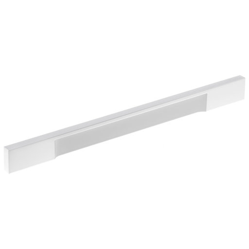 """View a Larger Image of Contemporary Pull, 8-13/16"""" Center-to-Center, White"""
