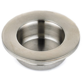 """Contemporary Recessed Pull, 1-3/8"""" D, Brushed Nickel"""