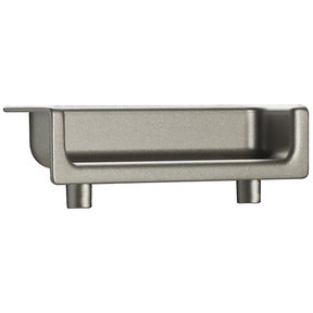 """Contemporary Recessed Pull, 2-1/2"""" Center-to-Center, Matte Nickel"""