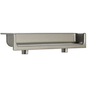 """Contemporary Recessed Pull, 3-3/4"""" Center-to-Center, Matte Nickel"""