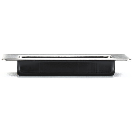 """View a Larger Image of Contemporary Recessed Pull, 3-3/8"""" x 1-17/32"""", Brushed Chrome"""