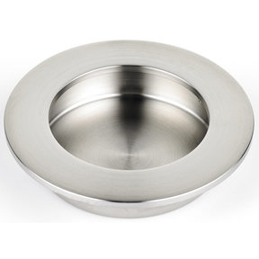 """Contemporary Recessed Pull, 3-5/32"""" D, Brushed Nickel"""