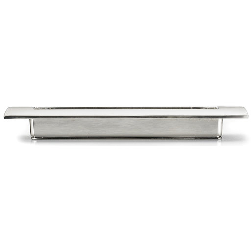"""View a Larger Image of Contemporary Recessed Pull, 5-1/16"""" Center-to-Center, Brushed Nickel"""