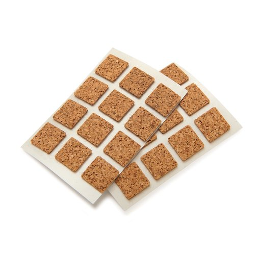"""View a Larger Image of Cork Square, Self-Adhesive, Natural 1/2"""" 40-piece"""