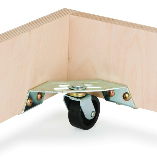 """View a Larger Image of Corner Caster - 1-1/2"""" - 4 Pack"""