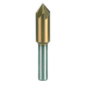 """3/8"""" Diameter Titanium-Nitride Coated Countersink"""