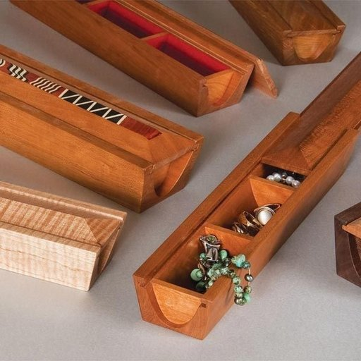 View a Larger Image of Coved Jewelry Box - Downloadable Plan
