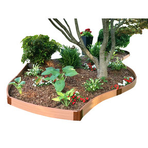 """Classic Sienna Curved Landscape Edging Kit 16' – 2"""" profile"""