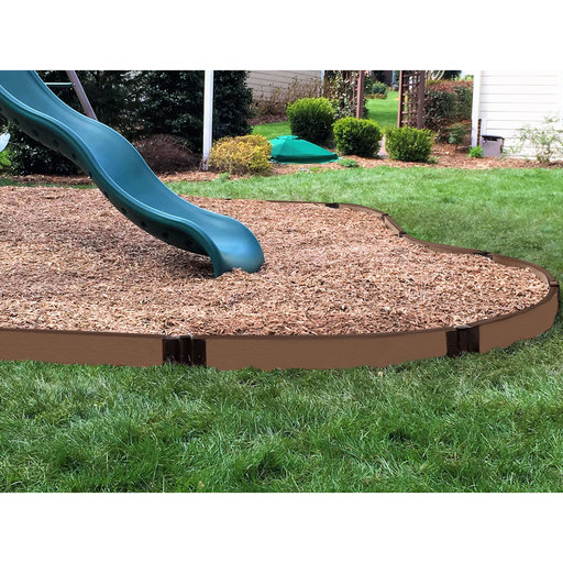 """View a Larger Image of Uptown Brown Curved Playground Border 16' - 1"""" profile"""
