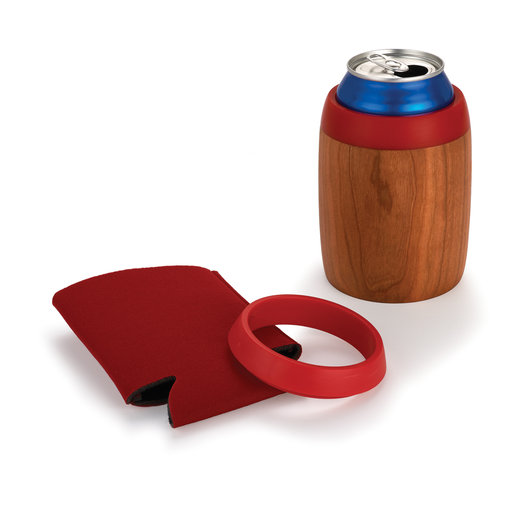 View a Larger Image of Custom Insulated Beverage Holder Kit Red