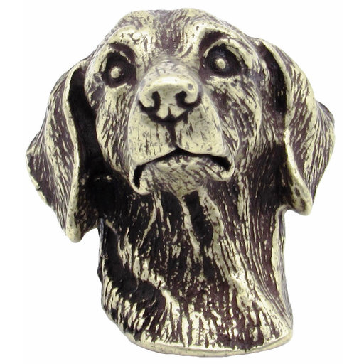 View a Larger Image of Dachshund Knob Brass Oxide