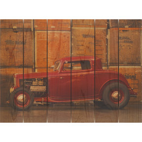 Deuce Coupe 22x16 Wood Art