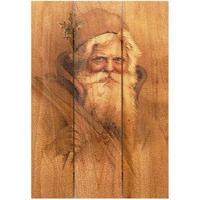 Father Xmas 16x24 Wood Art