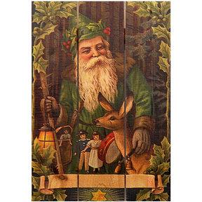 Forest Santa 16x24 Wood Art