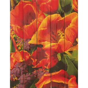 Full Bloom 28x36 Wood Art