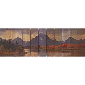 Mtn Paradise 60x20 Wood Art
