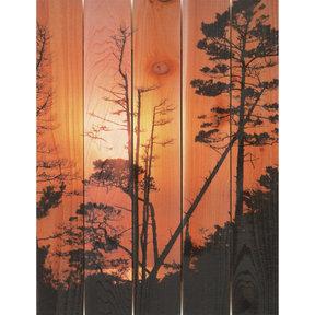 Ocean Forest 28x36 Wood Art