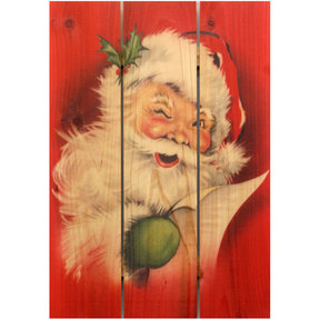 Red Santa 16x24 Wood Art