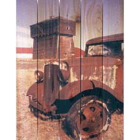 Rust Bucket 28x36 Wood Art