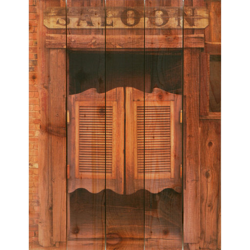 View a Larger Image of Saloon Door 28x36 Wood Art