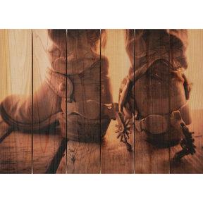 Show Down 22.5x16 Wood Art