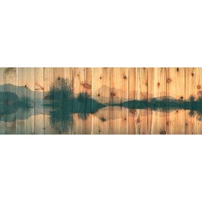 Still Lake 32x11 Wood Art