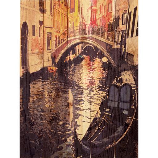 View a Larger Image of Venetian Gondola 28x36 WoodArt