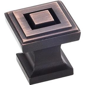 """Delmar Knob 1"""" O.L., Brushed Oil Rubbed Bronze"""