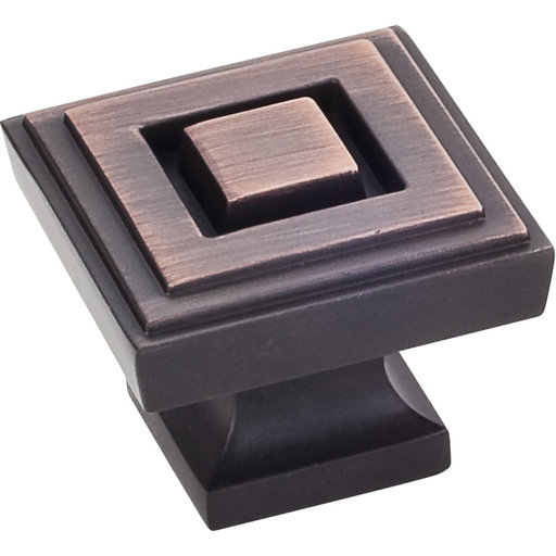 """View a Larger Image of Delmar Large Knob, 1-1/4"""" O.L., Brushed Oil Rubbed Bronze"""